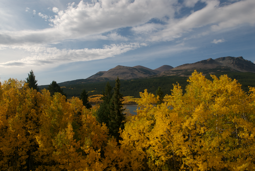 Fall colors at Two Medicine by shagie