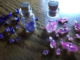 Sale: Shikon Jewel Shard Bottle Purified Defiled by BlackManaBurning