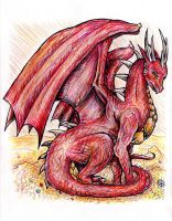 Smaug the dragon by VisAnastasis
