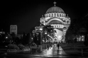 Cathedral of Saint Sava by aleexdee