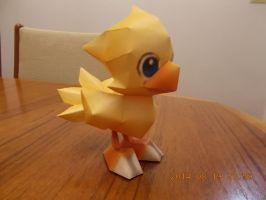 Chocobo Papercraft by DraikenTalkos