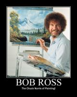 Bob Ross Motivational by Werewolfsbane