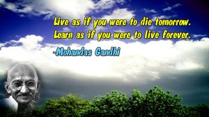 Mohandas Gandhi Motivational Wallpaper by JanetAteHer