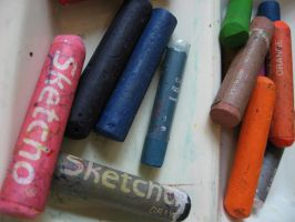 Crayons by uncledave