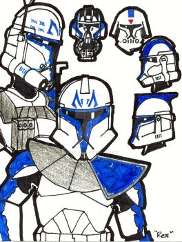 Captain Rex of the 501st by Dominic-Skirata-X