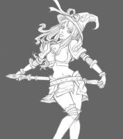 Lux - Paper Drawing by Tropic02