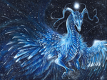Twinkling Ice Dragon by Isvoc