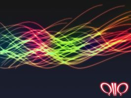 Glow Waves  Abstract Wallpaper by pointblankcreativity