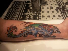 Dragon Tattoo by delapsus1992