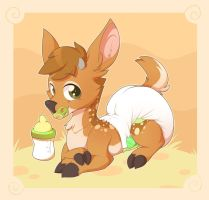 Happy Little Fawn by Hourglass-Sands