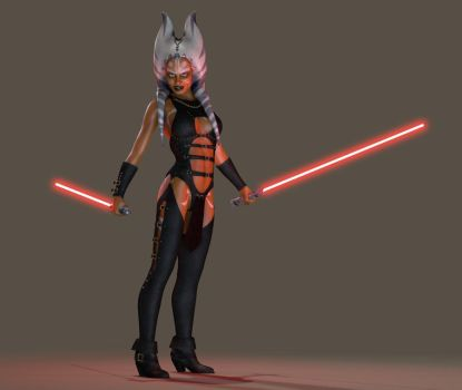 Ahsoka Tano - 'Welcome to the Dark Side' by darthziggy