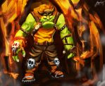 Magma dungeon orc guard by ryujin2490