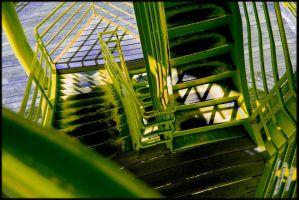 The Green Stairway by AleanaMaeInc