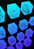Sea Creatures in Cubes by J-Perkins