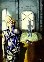Cloud and Aeris by LionRedPepper