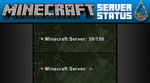 Minecraft Server Status Rainmeter Skin by kraftydinosaur