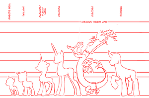 MLP:FIM: Height Chart by mattwilson83
