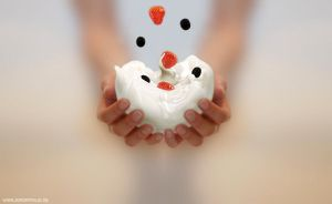 Yoghurt in my Hands by 3DPORTFOLIO