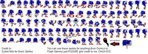 Sonic.EXE (Demon Sonic) Sprites by Chi-Da-Hedgie