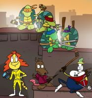 Teenage Mutant Ninja Turtles' Modern Life? by batteryChicken