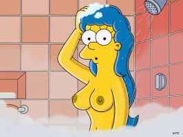 Marge showering 1 by WVS1777