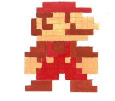 8Bit Pixel Mario Painted by TranquilLife