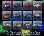 12 Car Icons by 0dd0ne