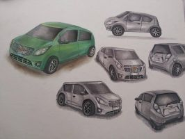 :Paws Draws Cars- Finished: by PrePAWSterous