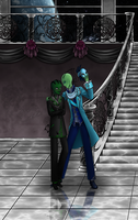 GA - Masquerade : Valn and Fibra by serenadefox