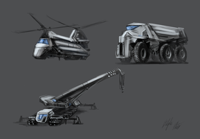 Federation Vehicles by PeterPrime