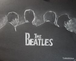 The Beatles black by Tokiiolicious