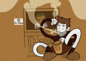 House, Tea and Cigarettes by the-dumb-waiter