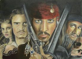 Pirates of the Caribbean by Bobbie-Gurl
