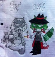 Ghost Lifty and Vampire Shifty (Traditional) by PogorikiFan10