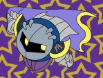 Meta-Knight through the stars by aabarro13