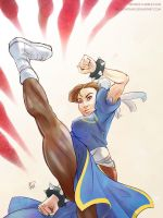 Chun li sketch by brokentrain