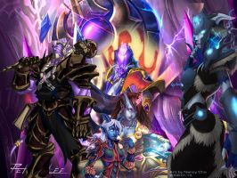 Warcraft Draenei Collage by PandaProduction