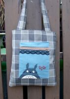 totoro and hearts bag by yael360