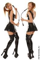Little PVC Black Dress III by agnadeviphotographer