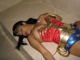 Sexy Wonder Woman Chloro and Defeated by gcsuperheroines