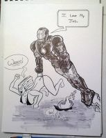 IronMan Saves the Day by GeekyWhiteGuy