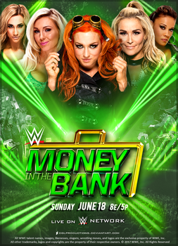 WWE Money in the Bank 2017 - Custom Poster v2 by DGLProductions