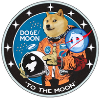 Moon patch V2 - Dogecoin by Kaelakov