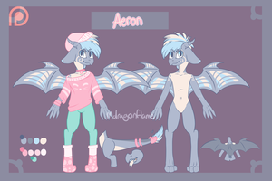 Bigspikey Patreon Doodlepage Substitute- Aeron by Mdragonflame