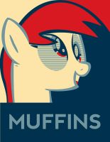 Derpy Hooves Muffins (pop art obey style) by xx1simon1xx