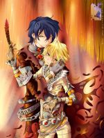 Pandora Hearts: Gilbert x Oz by Shailo