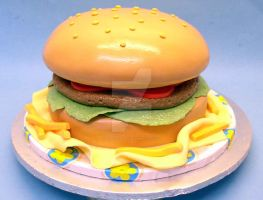 Hamburger Cake by ginas-cakes