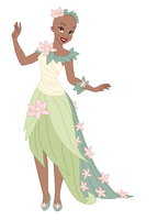 Tiana dress base 3 by Raygirlbases
