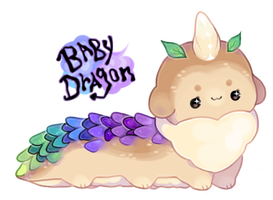 baby dragon bloomfoo by moonbeani
