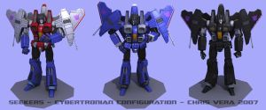 Seekers Cybertronian Config by kurisama